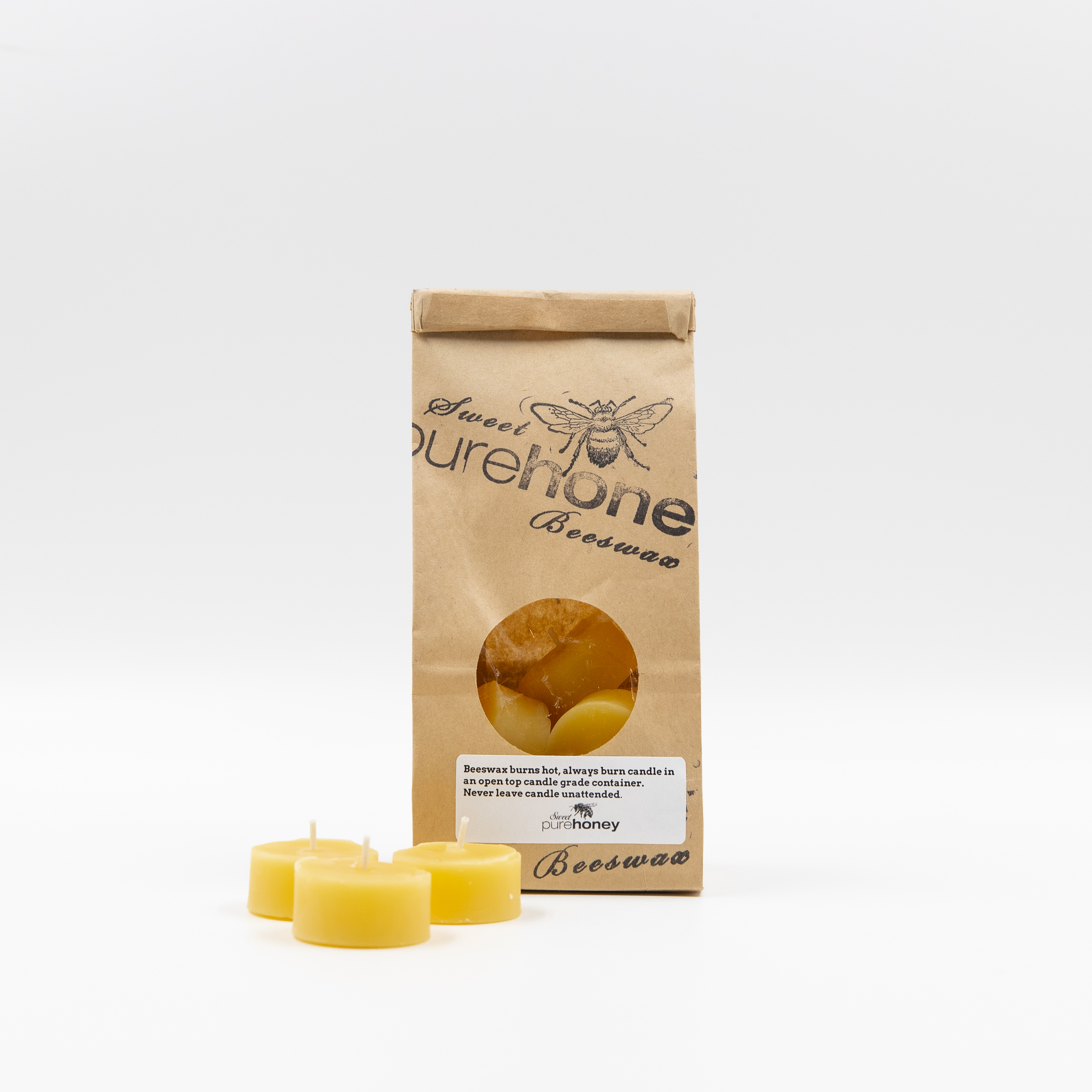 Beeswax Candles - Beeswax Tealights